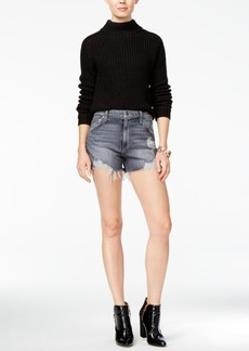 Joe's Bella Shredded Cotton Denim Shorts
