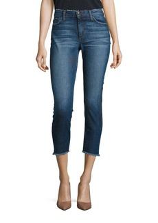 Joe's Blondie Skinny Frayed Step Hem Cropped Jeans