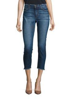 Joe's Jeans Blondie Skinny Frayed Step Hem Cropped Jeans