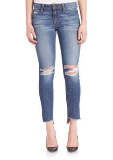 Joe's Blondie Step Hem Distressed Skinny Ankle Jeans