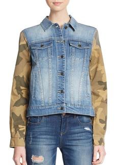 Joe's Camo Print-Paneled Denim Jacket