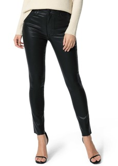 Joe's Jeans Joe's Charlie Coated High Waist Raw Hem Ankle Skinny Jeans