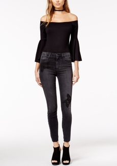 Joe's Charlie Embroidered Ankle Skinny Jeans