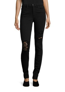 Joe's Charlie High Rise Skinny Distressed Jeans