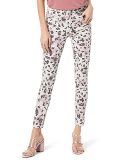 Joe's Jeans Joe's Charlie High Waist Ankle Skinny Jeans (Watercolor Leopard Blush)
