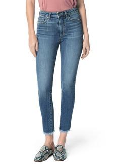 Joe's Jeans Joe's Charlie High Waist Frayed Split Hem Ankle Skinny Jeans (Taraji)