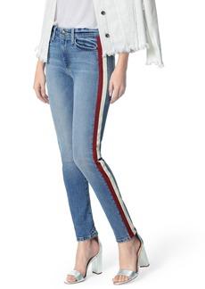 Joe's Jeans Joe's Charlie Lambskin Leather Stripe High Waist Ankle Skinny Jeans (Arlo)