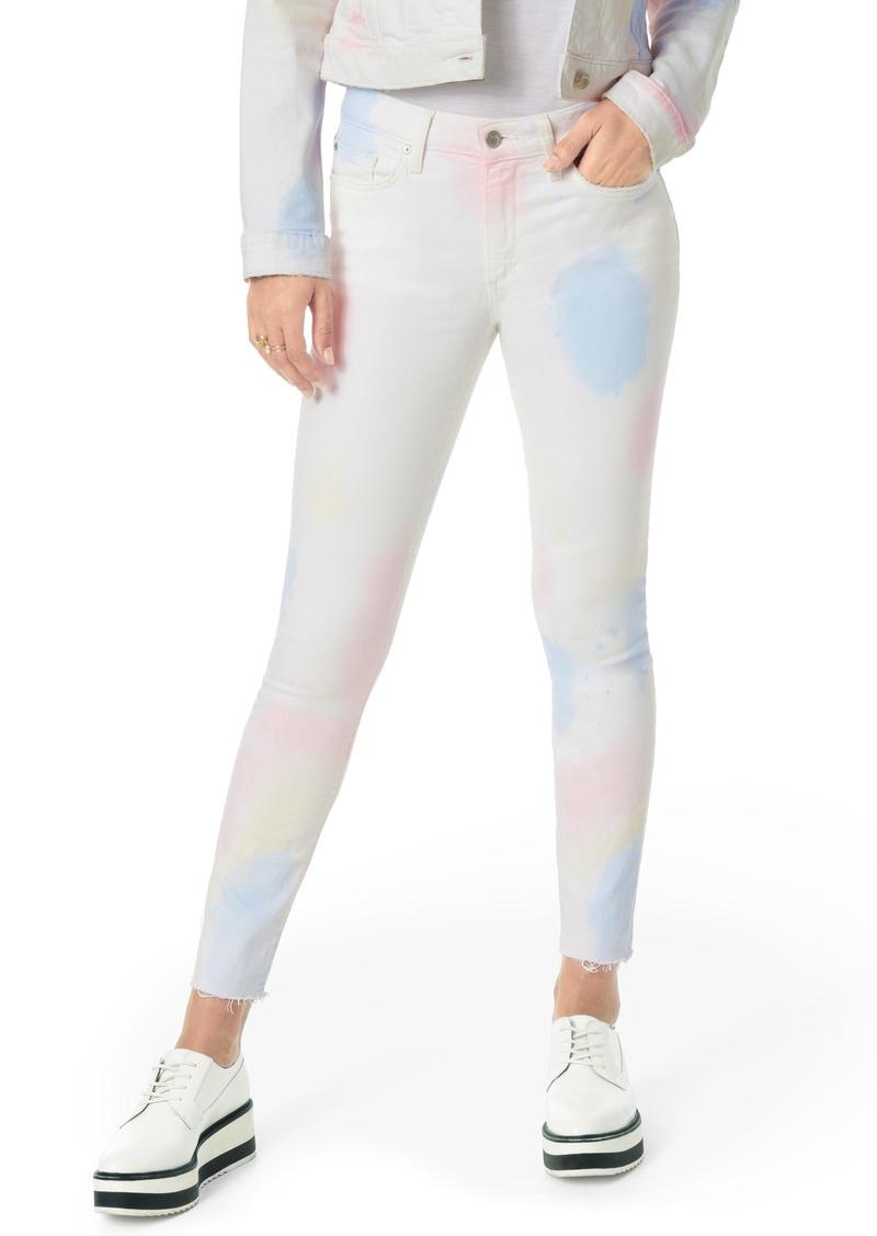 Joe's Jeans Joe's Charlie Paint Splatter High Waist Raw Hem Skinny Jeans (Tonicia)