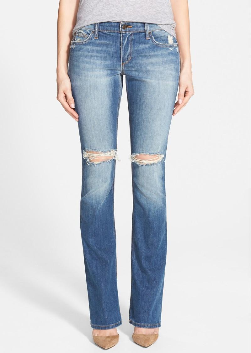 Joe's Jeans Joe's 'Collector's - Vixen' Shredded Bootcut Jeans (Celeste)