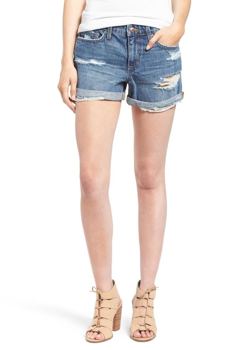 Joe's Jeans Joe's 'Collector's Edition' Ripped Cuffed Denim Shorts (Ryla)