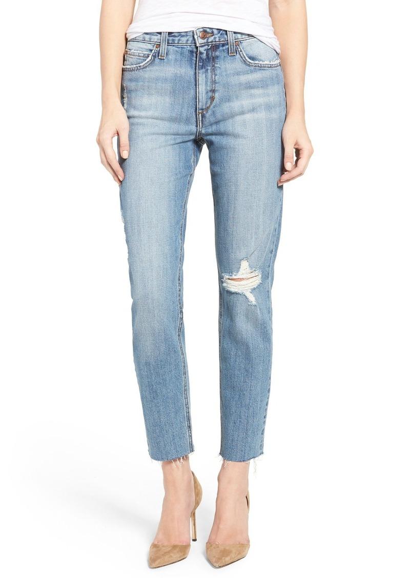 Joe's Jeans Joe's Debbie High Rise Distressed Boyfriend Jeans ...