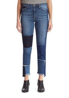Joe's Debbie High-Rise Patchwork Step Hem Jeans