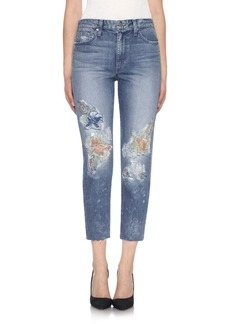 Joe's Debbie High Waist Crop Straight Leg Jeans (Natalya)