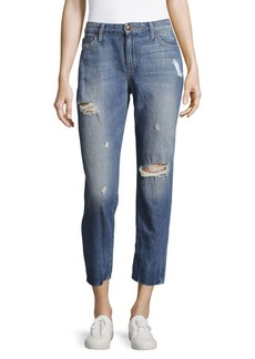 Distressed Crop Jeans