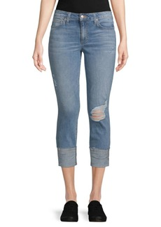 Joe's Jeans Distressed Cropped Jeans