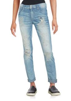 Joe's Distressed Folded Cuffs Jeans