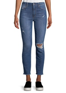 Joe's Distressed High-Rise Ankle Jeans