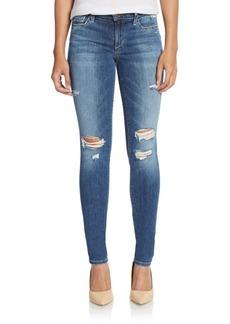 Joe's Distressed Roll Cuff Skinny Jeans