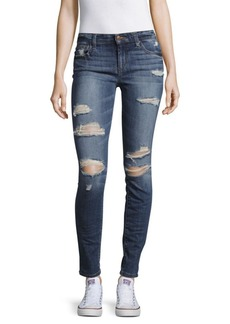 Joe's Distressed Roll-Cuff Skinny Jeans