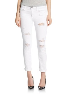 Joe's Distressed Rolled Cuff Skinny Jean