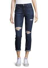 Joe's Jeans Distressed Straight Crop Jeans