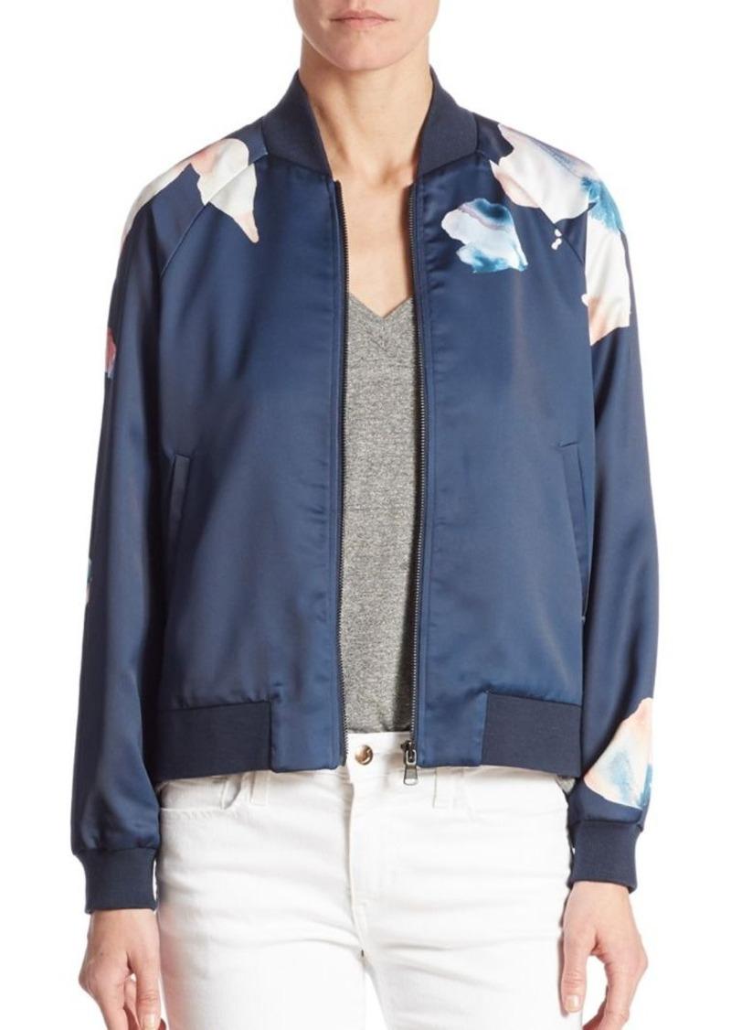Joe's Jeans Joe's Elsie Sateen Floral-Print Bomber Jacket