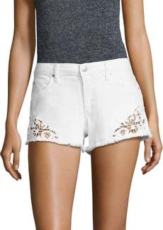 Joe's Jeans Joe's Embroidered Frayed Denim Shorts