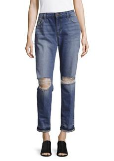 Joe's Ex-Lover Shredded Ankle Jeans