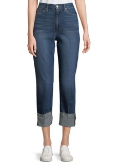Faded High Rise Ankle Jeans