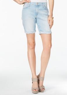 Joe's Finn Cuffed Marjorie Wash Denim Bermuda Shorts