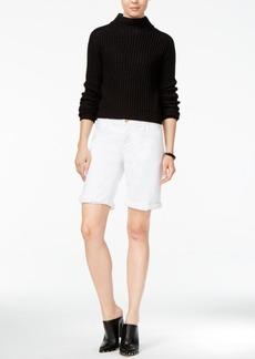 Joe's Jeans Joe's Finn Cuffed White Wash Denim Bermuda Shorts