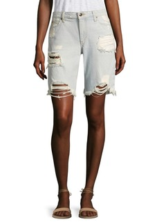Joe's Finn Distressed Denim Bermuda Shorts