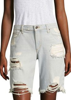 Joe's Jeans Joe's Finn Distressed Denim Bermuda Shorts