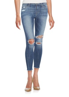 Joe's Jeans Joe's Finn Distressed Skinny Ankle Fray Jeans