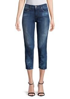 Joe's Frayed Cropped Jeans