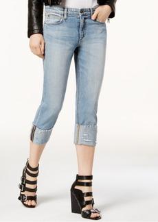 Joe's Frayed Cuffed Cropped Jeans