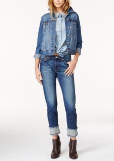 Joe's Frayed Cuffed Skinny Jeans