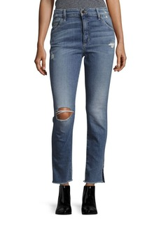 Joe's Jeans Frayed Five-Pocket Jeans