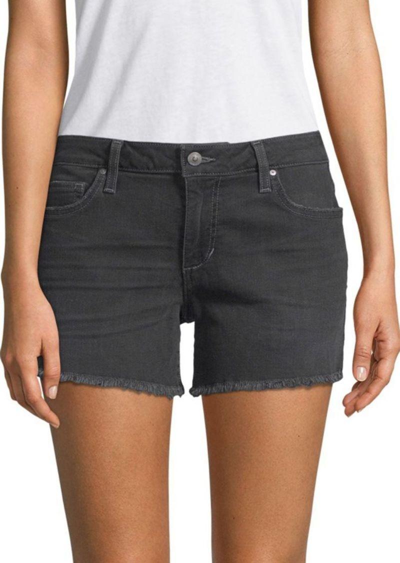 Joe's Jeans Frayed-Hem Denim Shorts