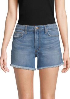 Joe's Jeans Frayed-Hem High-Rise Denim Shorts