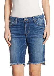 Joe's Jeans Joe's Frayed Step Hem Denim Bermuda Shorts
