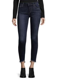 Joe's Fringed-Cuff Jeans