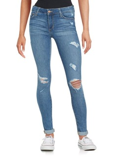 Joe's Grace Distressed Roll-Cuff Skinny Jeans