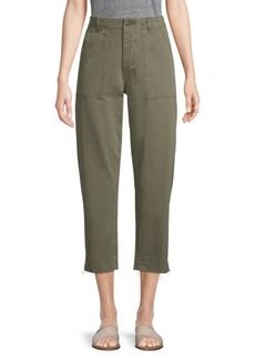 Joe's Jeans High-Rise Straight-Leg Cropped Pants