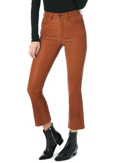 Joe's Jeans Joe's High Waist Crop Bootcut Leather Pants