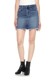 Joe's Classics High Waist Cutoff Denim Miniskirt