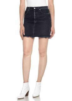 Joe's Classics High Waist Cutoff Denim Miniskirt