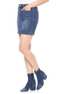 Joe's High Waist Denim Miniskirt