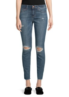 Joe's Jeans Icon Frayed-Hem Ankle Jeans