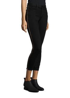 Icon Tuxedo Zipper Skinny Ankle Jeans